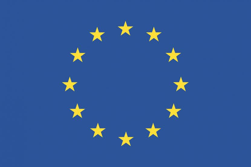flaga, gwiazdy, niebieski kolor, żółty kolor