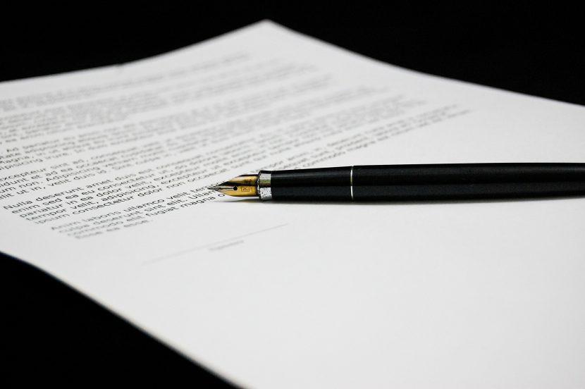 dokument, pióro, pismo