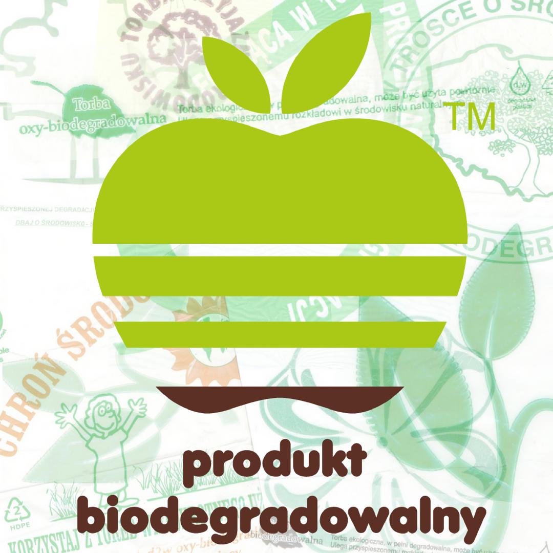 Pewne logo - jabłuszko biodegradowalne