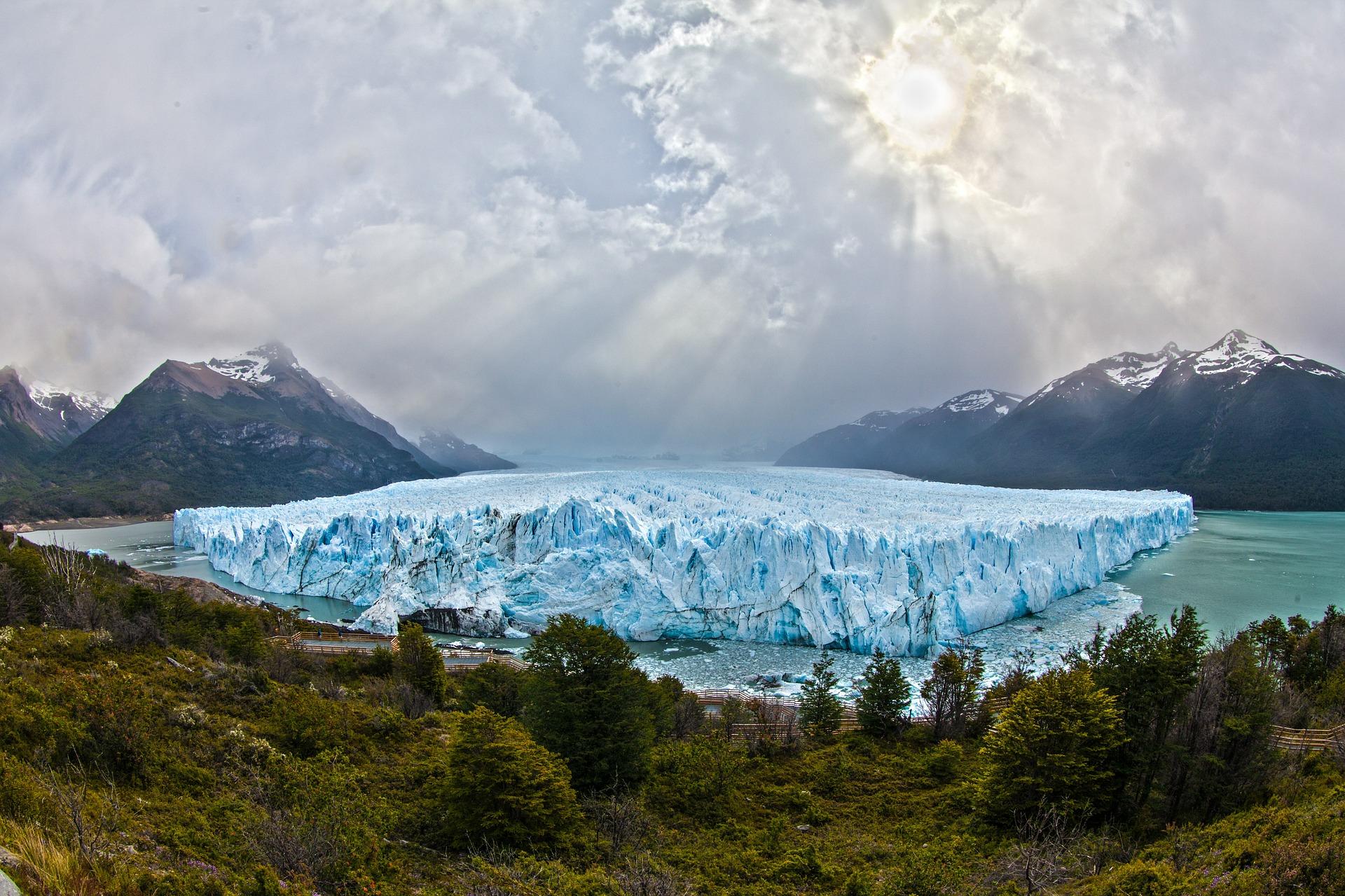 globalne ocieplenie, klimat, lodowiec, drzewa, góry