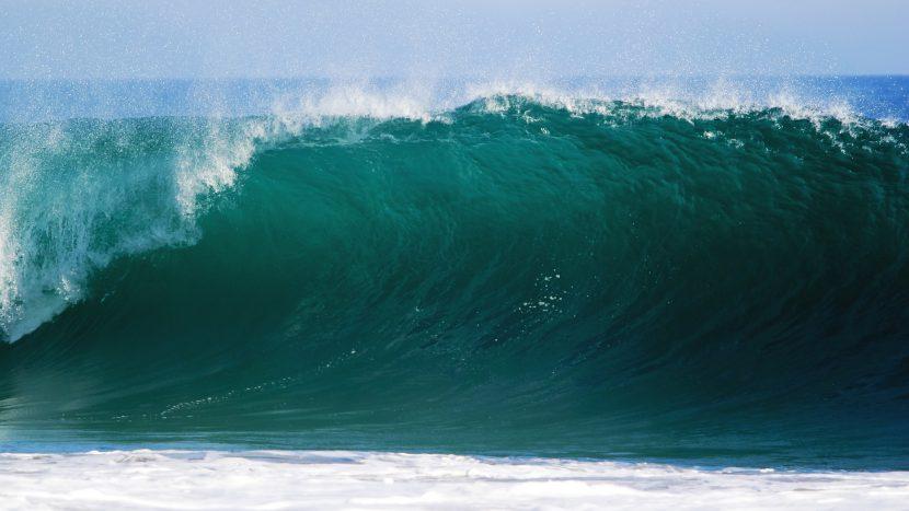 ocean, fala, woda