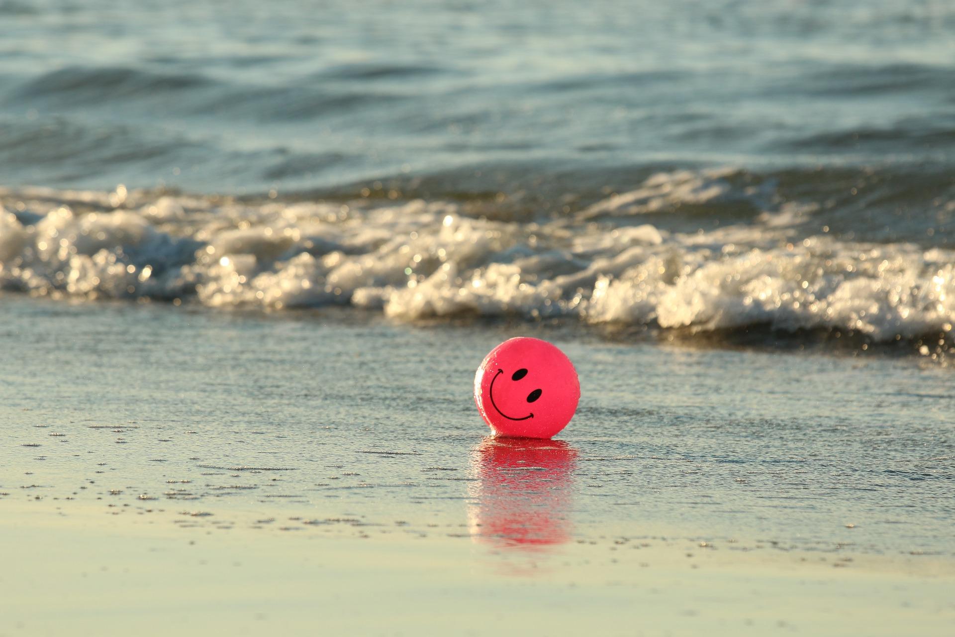 piłka, ocean, woda